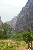 Nice Desfuladero With A Sinuous River Full Of Water Pools Where You Can Take A Good Bath In The Park Of Zion. Geology Travel Holidays June 25, 2017. Zion Park. Springdale. Utah. USA.EEUU.