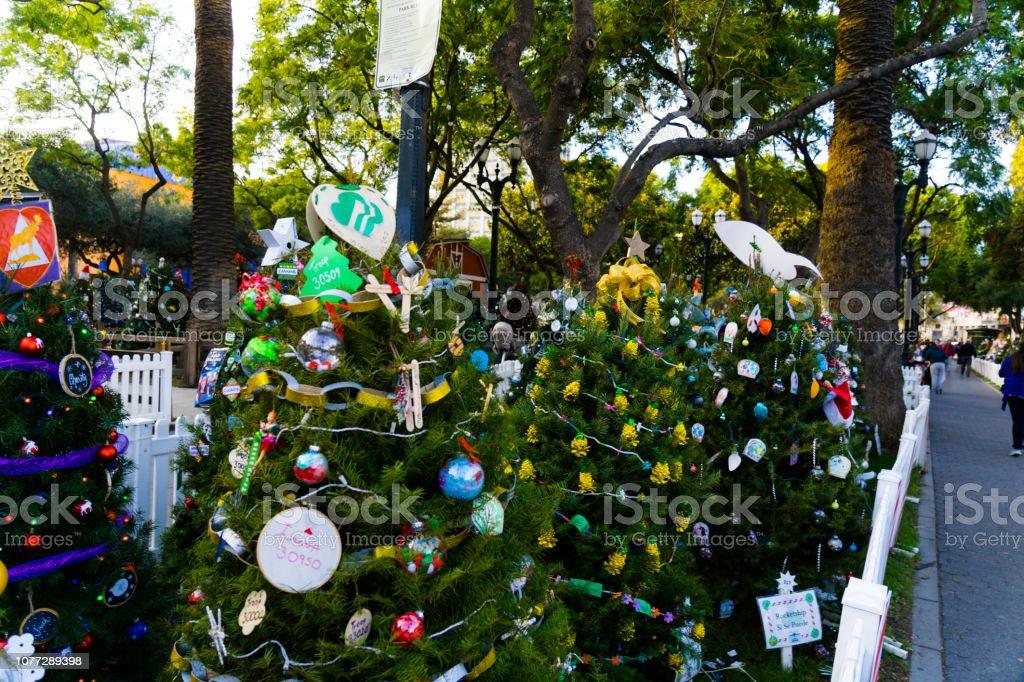 nice design of Christmas tree stock photo