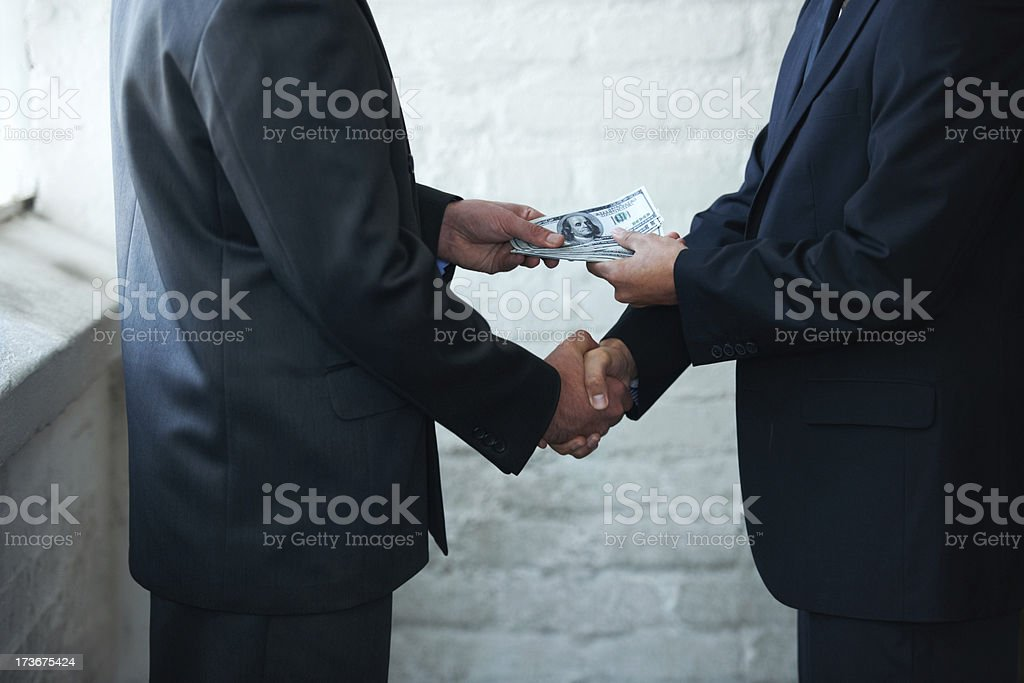 Nice doing business with you stock photo