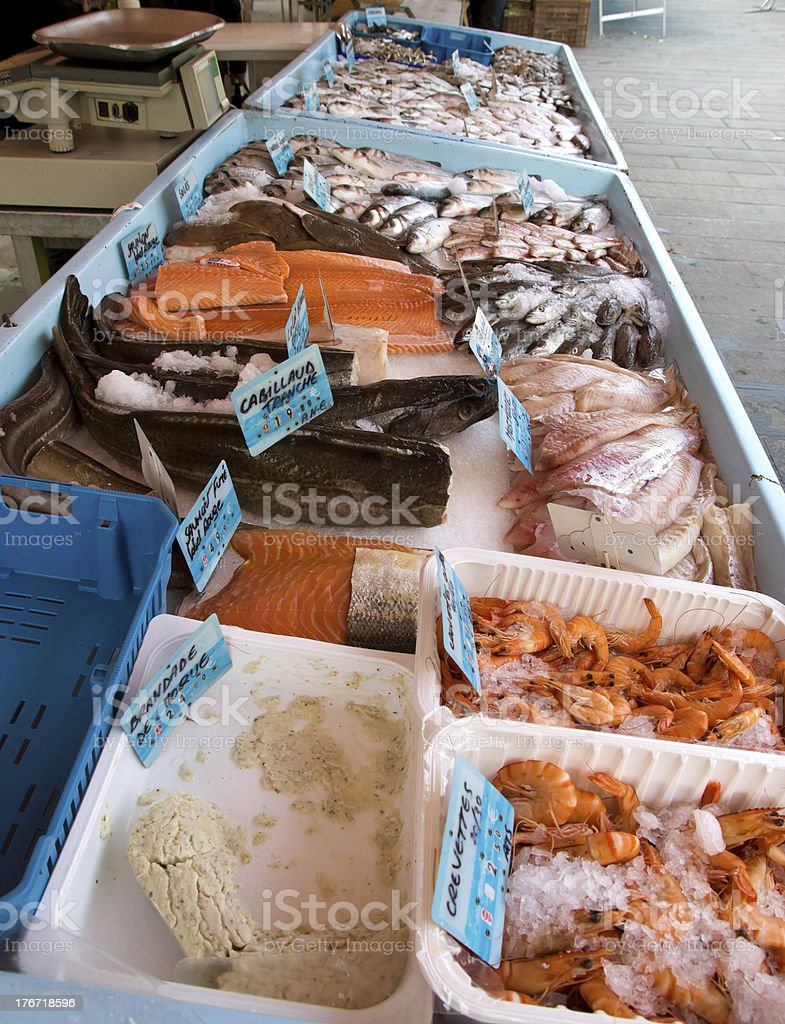 Nice - Fish Market royalty-free stock photo