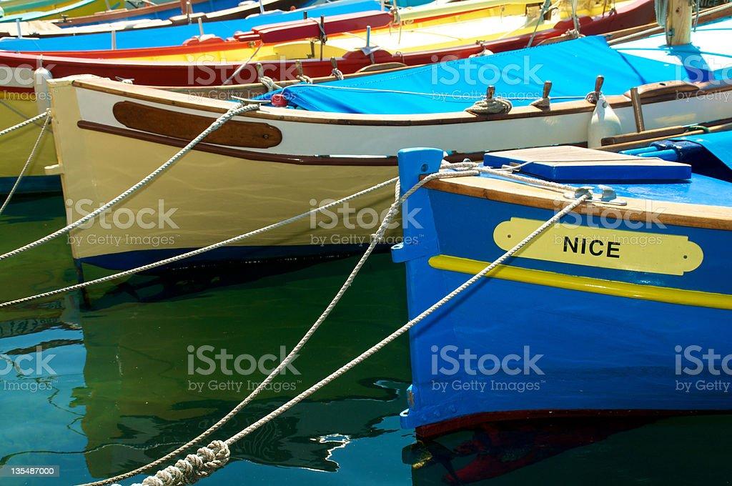 Nice fishing boats royalty-free stock photo