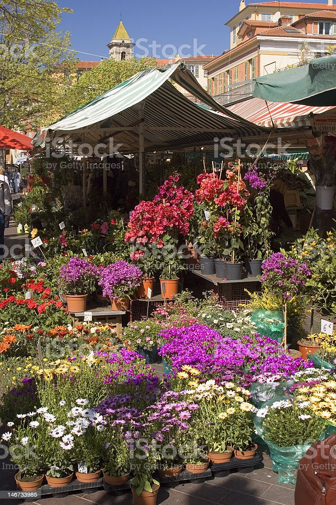 Nice Flower Market royalty-free stock photo