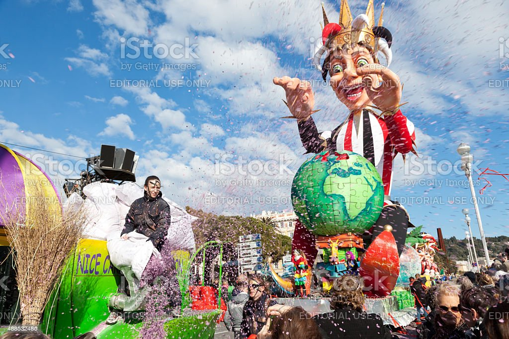 Nice, France, Carnival of Nice. stock photo