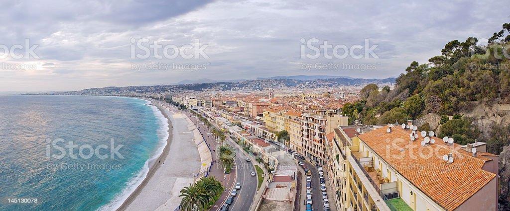 Nice, France panorama royalty-free stock photo
