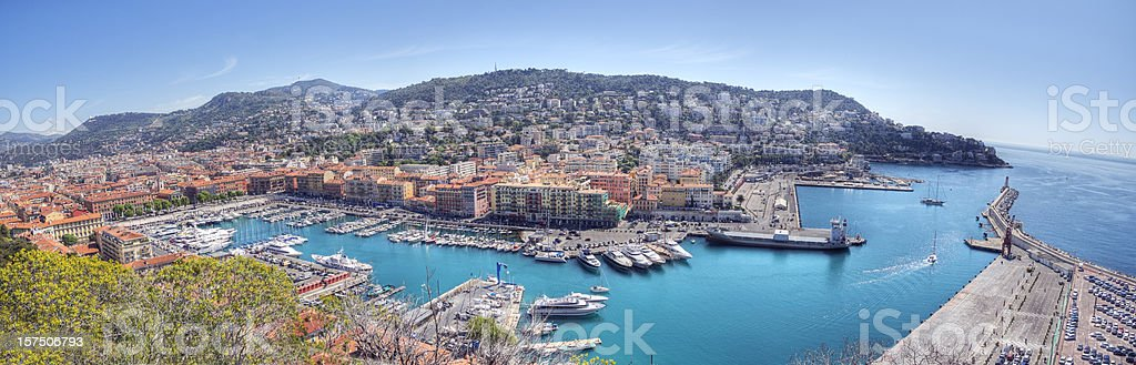 Nice France Panorama (XXL) royalty-free stock photo