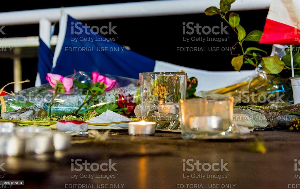 Nice - France Terrorist Attack Memorial Detail stock photo