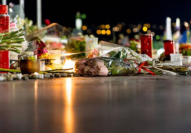 Nice, France Terrorist Attack Memorial Detail stock photo