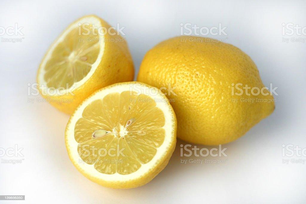 Nice, fresh lemons royalty-free stock photo