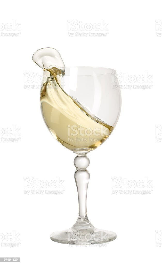 Nice glass with champagne royalty-free stock photo