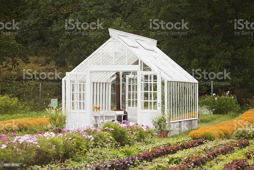 Nice greenhouse stock photo
