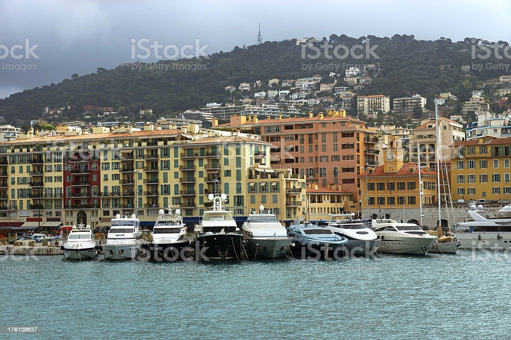 Nice - harbour and port royalty-free stock photo