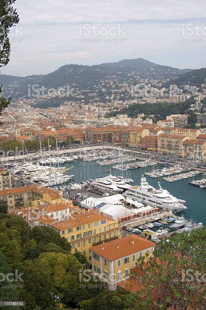 Nice harbour, France royalty-free stock photo