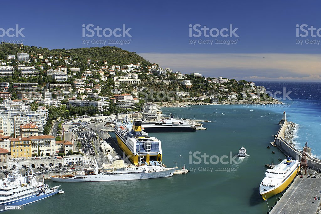 Nice harbour royalty-free stock photo