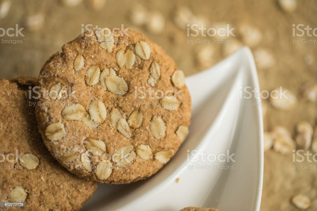 Nice healthy crackers stock photo
