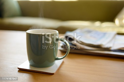 A lovely hot cup of tea or coffee and the newspapers. And relax.
