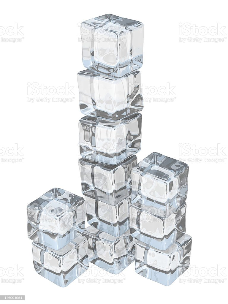 Nice Ice Cube Tower Stock Photo - Download Image Now - iStock