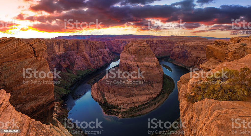 Nice Image of Horseshoe Bend stock photo