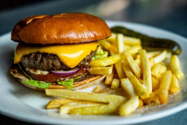 nice juicy cheeseburger - cheeseburger zdjęcia i obrazy z banku zdjęć