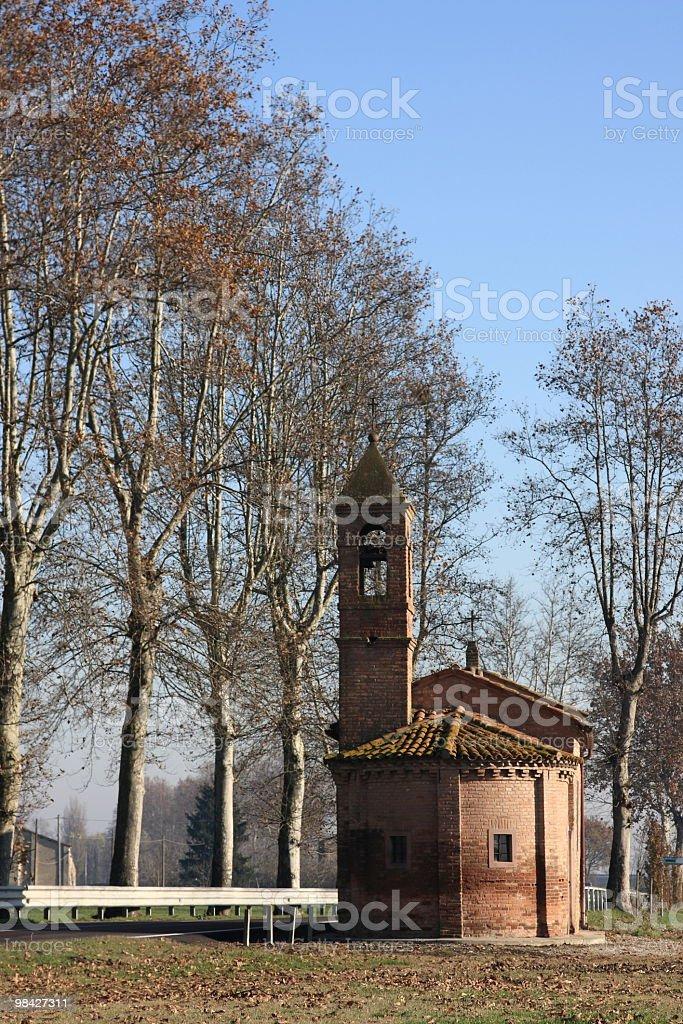 Nice little  italian church royalty-free stock photo