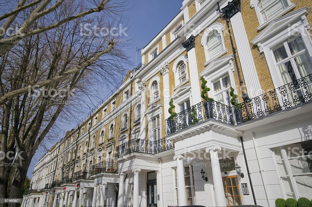 Nice looking flats in Bayswater, Greater London royalty-free stock photo