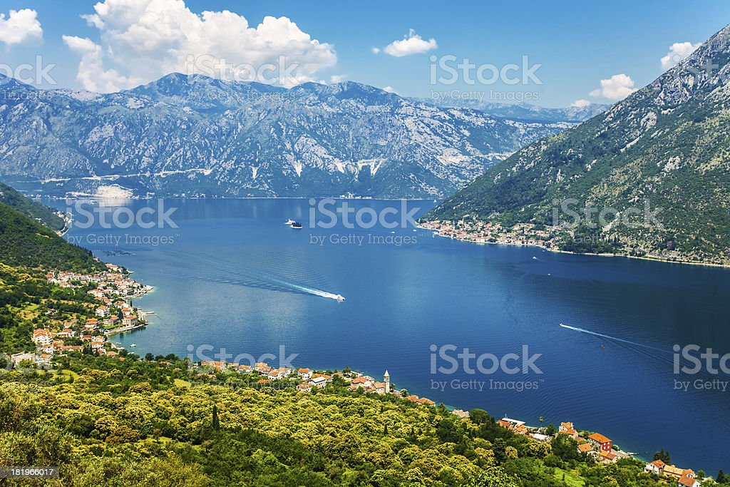 Nice mountain and sea view royalty-free stock photo