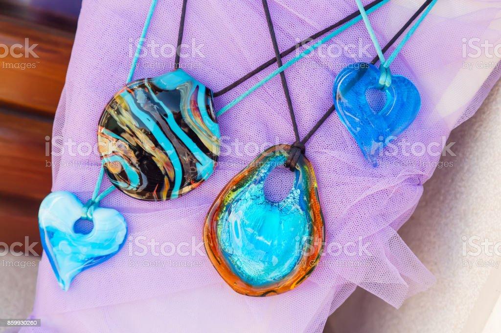 Nice Murano glass decorations in Murano ilsand near Venice, italy stock photo