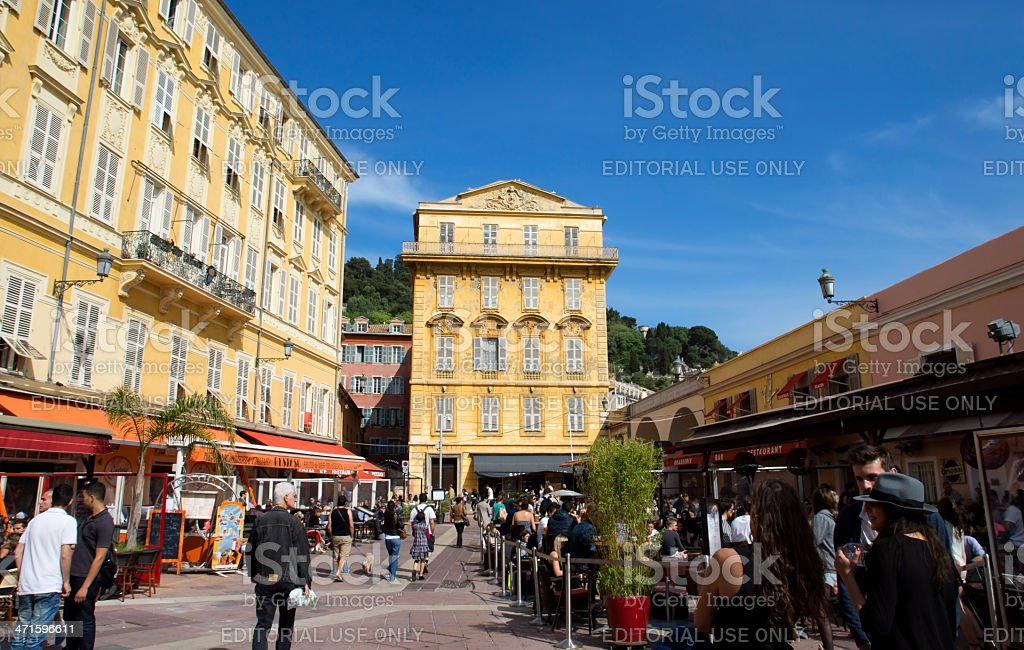 Nice - Old building in the Cours Saleya royalty-free stock photo