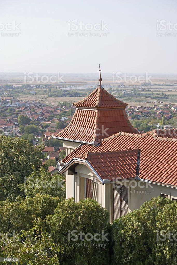 Belle ancienne maison européenne photo libre de droits