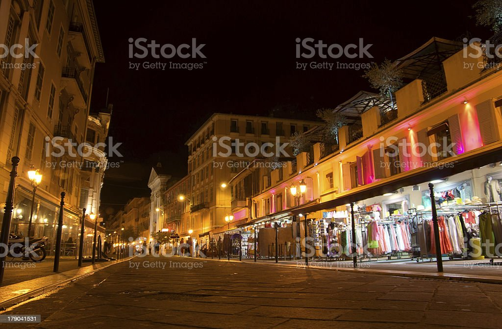 Nice - Old town at night royalty-free stock photo