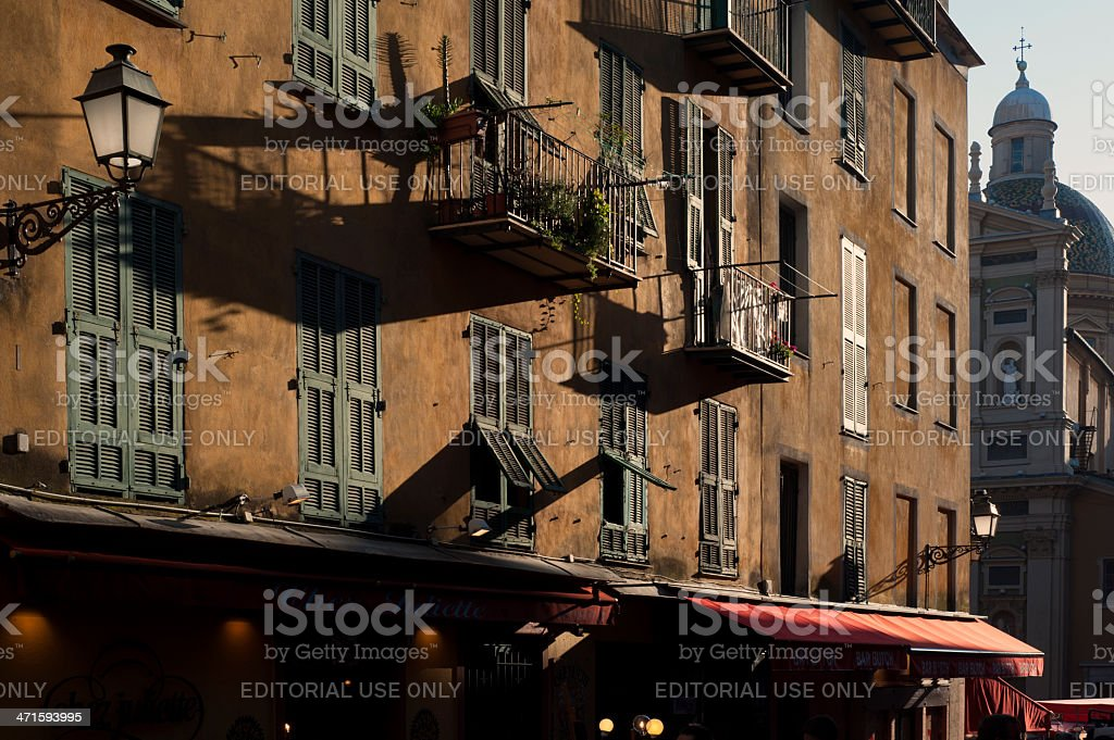 Nice Old Town Buildings royalty-free stock photo