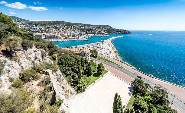 Nice Port and landscape, France stock photo