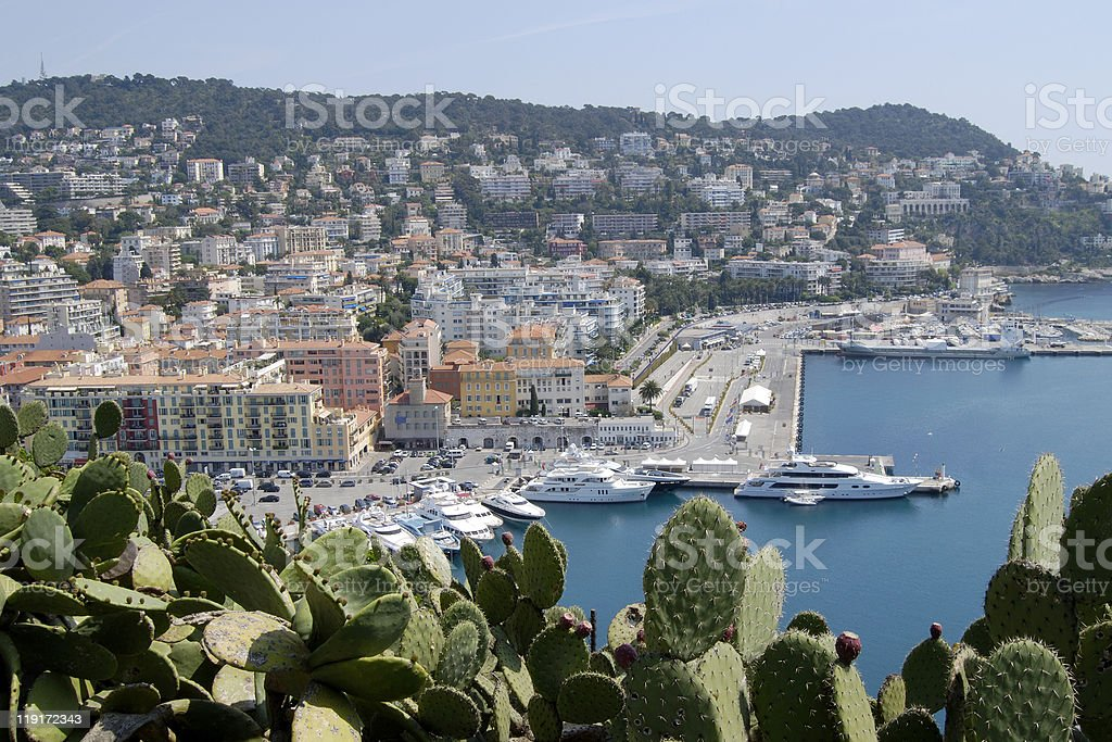 Nice Port. Cote d'Azur. France royalty-free stock photo