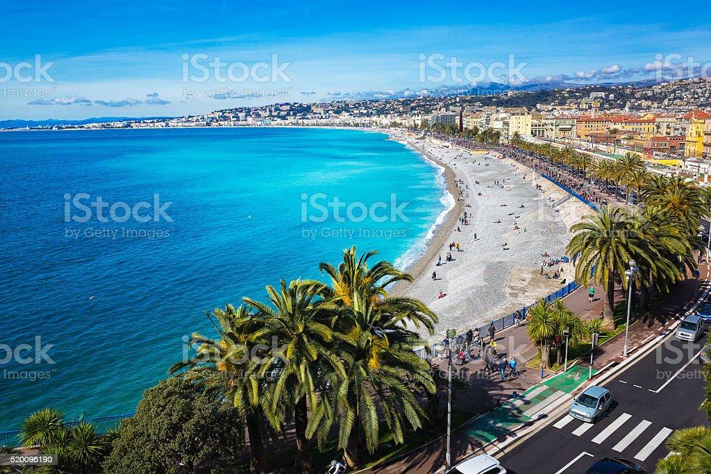 Nice promenade stock photo