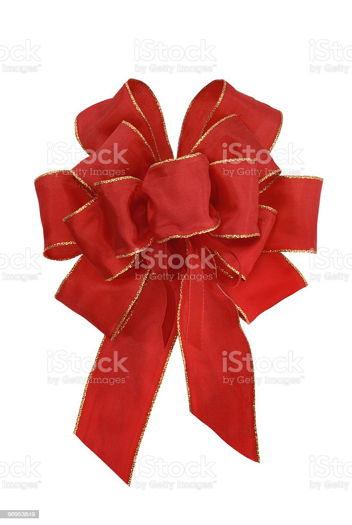 Nice red bow on white royalty-free stock photo