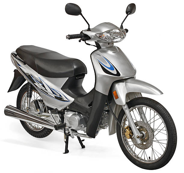 Nice scooter motorcycle stock photo
