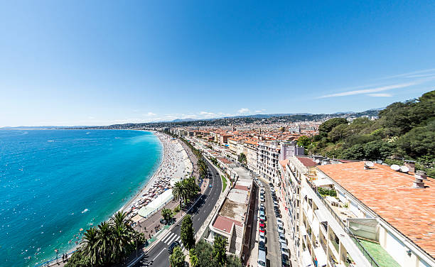 Nice seafront in France stock photo