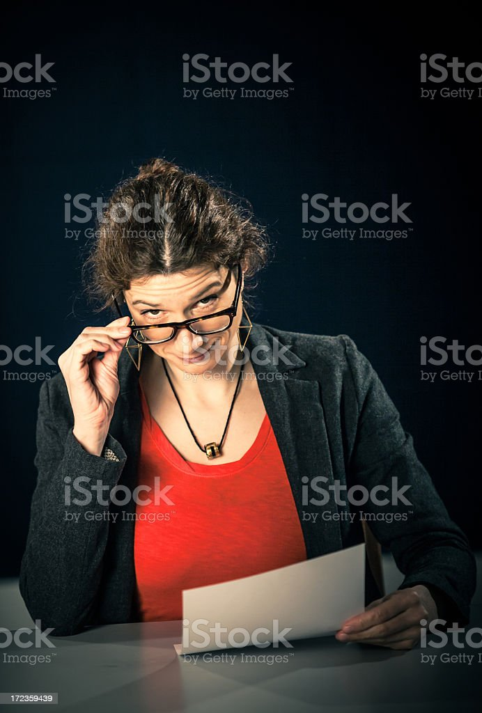 Nice secretary royalty-free stock photo