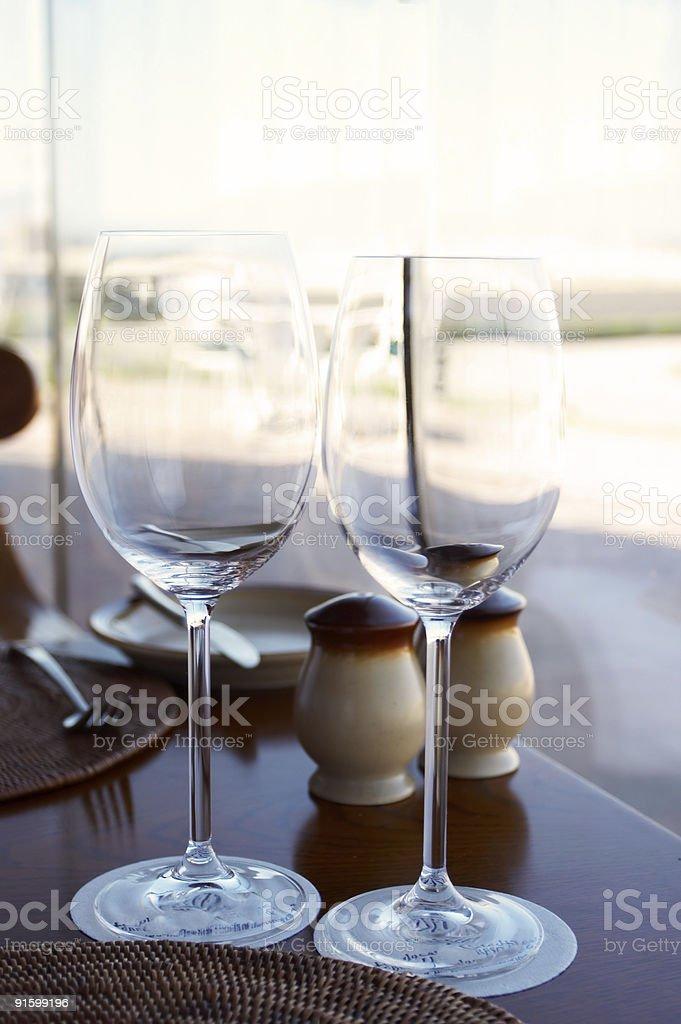 nice semi-formal table setting. royalty-free stock photo