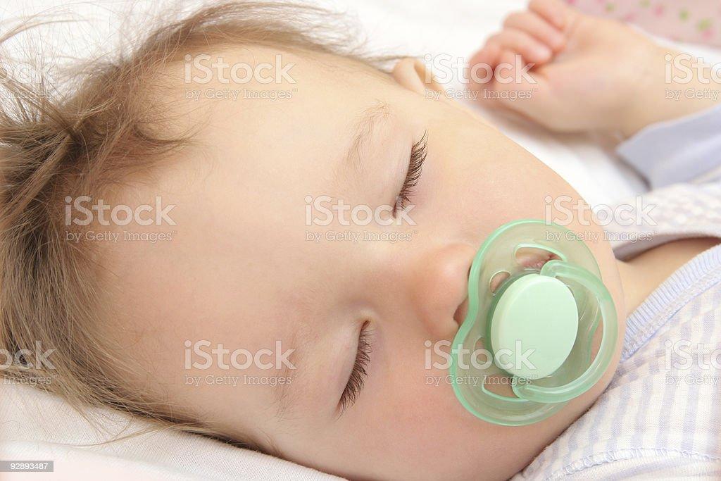 nice sleeping baby stock photo