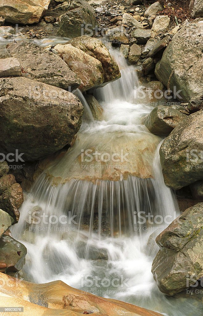 nice small waterfall royalty-free stock photo