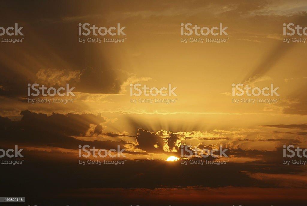 nice sundown stock photo