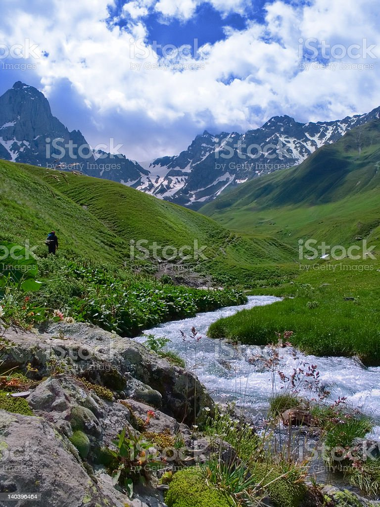 Nice sunny day in mountains royalty-free stock photo