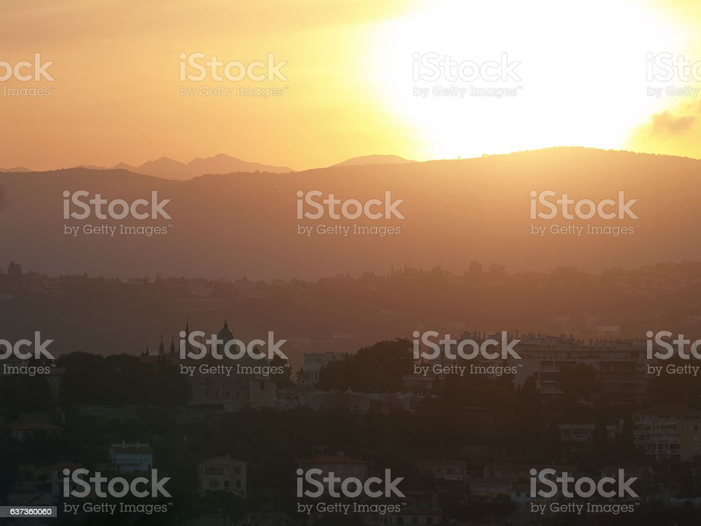 Nice sunset stock photo