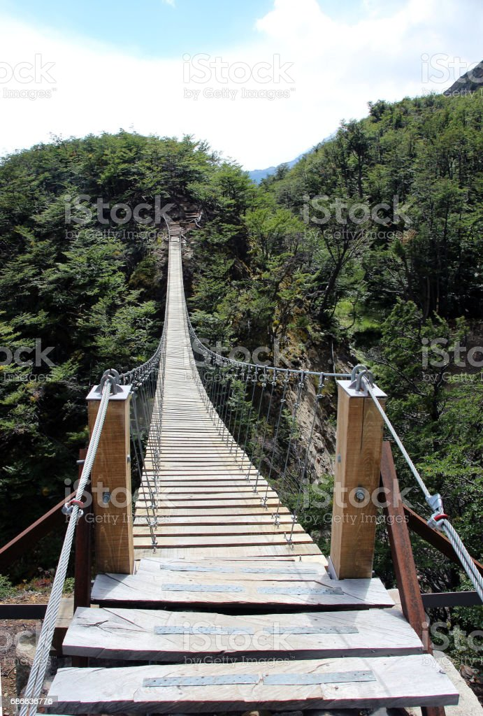 Nice suspension bridge royalty-free stock photo