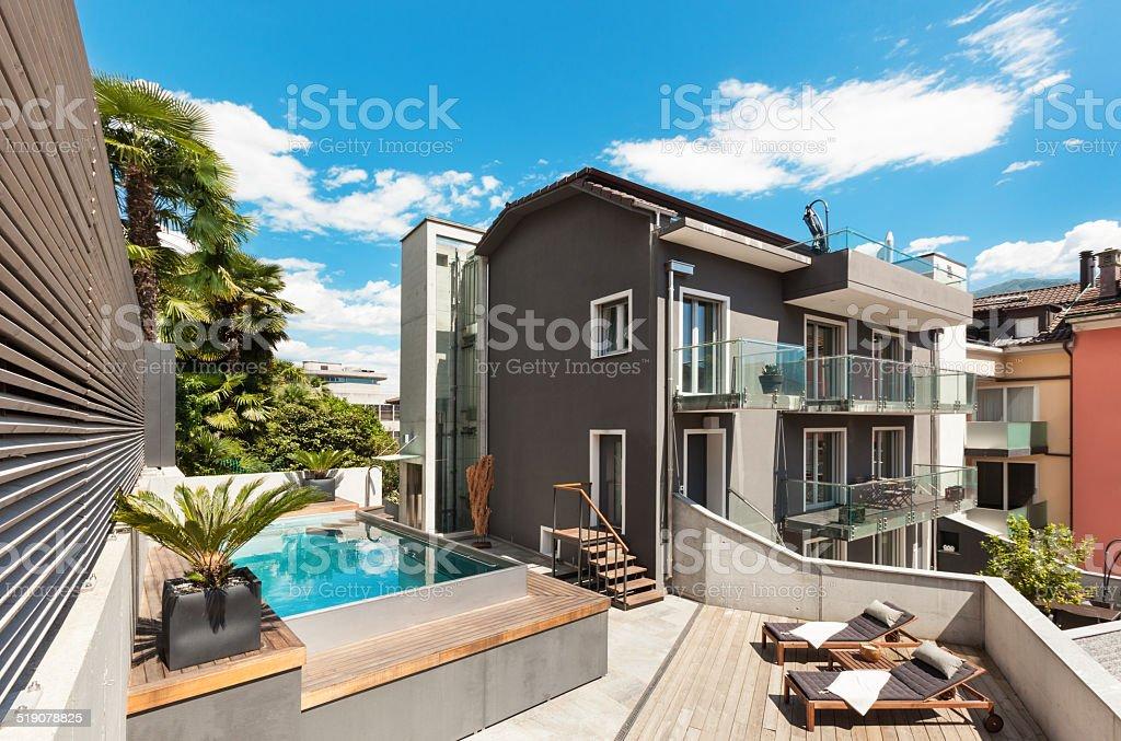 Hermosa Terraza De Casa Moderna Foto De Stock Y Más Banco De