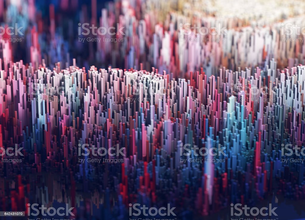 Nice three-dimensional terrain stock photo