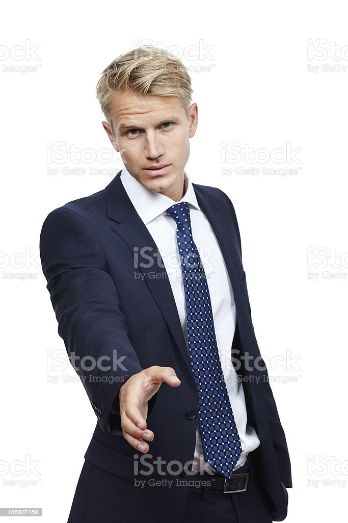 Nice to meet you stock photo