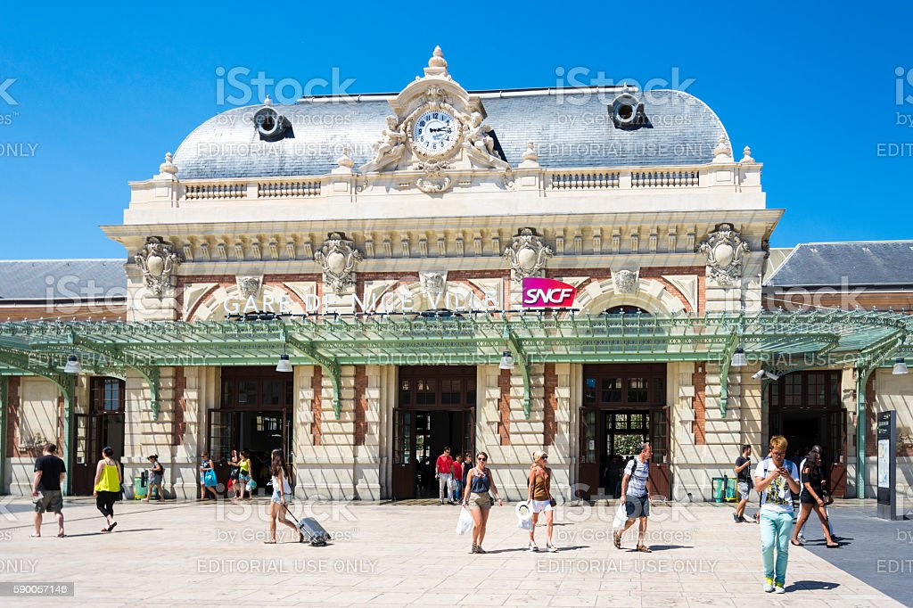 Nice Train Station, France - Gare de Nice Ville stock photo