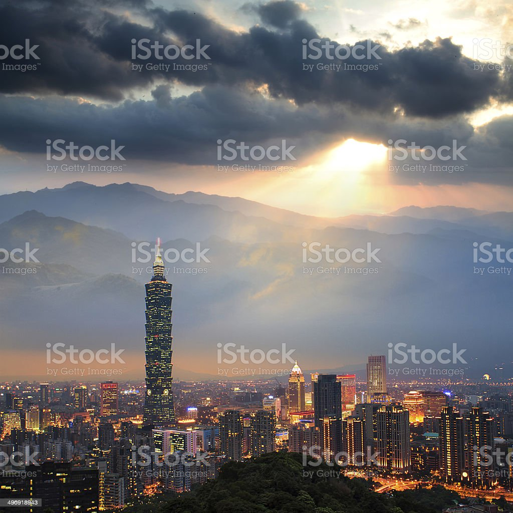 Nice view in the high mountain stock photo