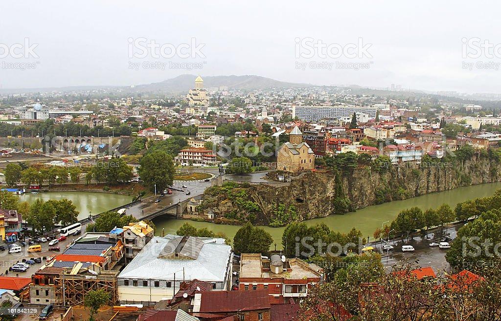 Nice view of Tbilisi, Georgia royalty-free stock photo